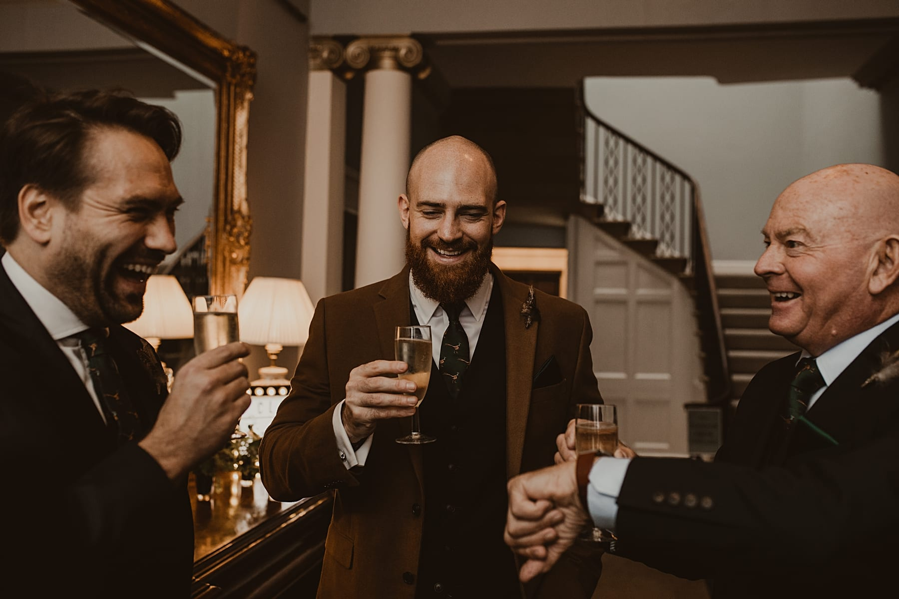 Guests enjoying a drink