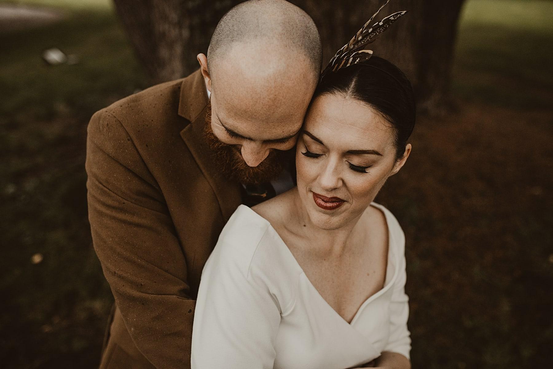 Feather headband - bride and groom